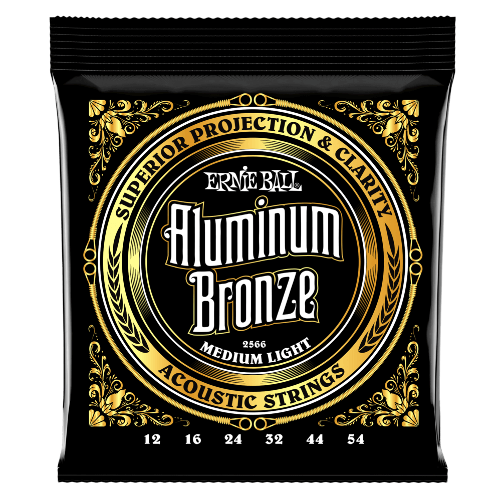ENCORDOAMENTO ERNIEBALL .012 MEDIUM LIGHT ALUMINUM BRONZE
