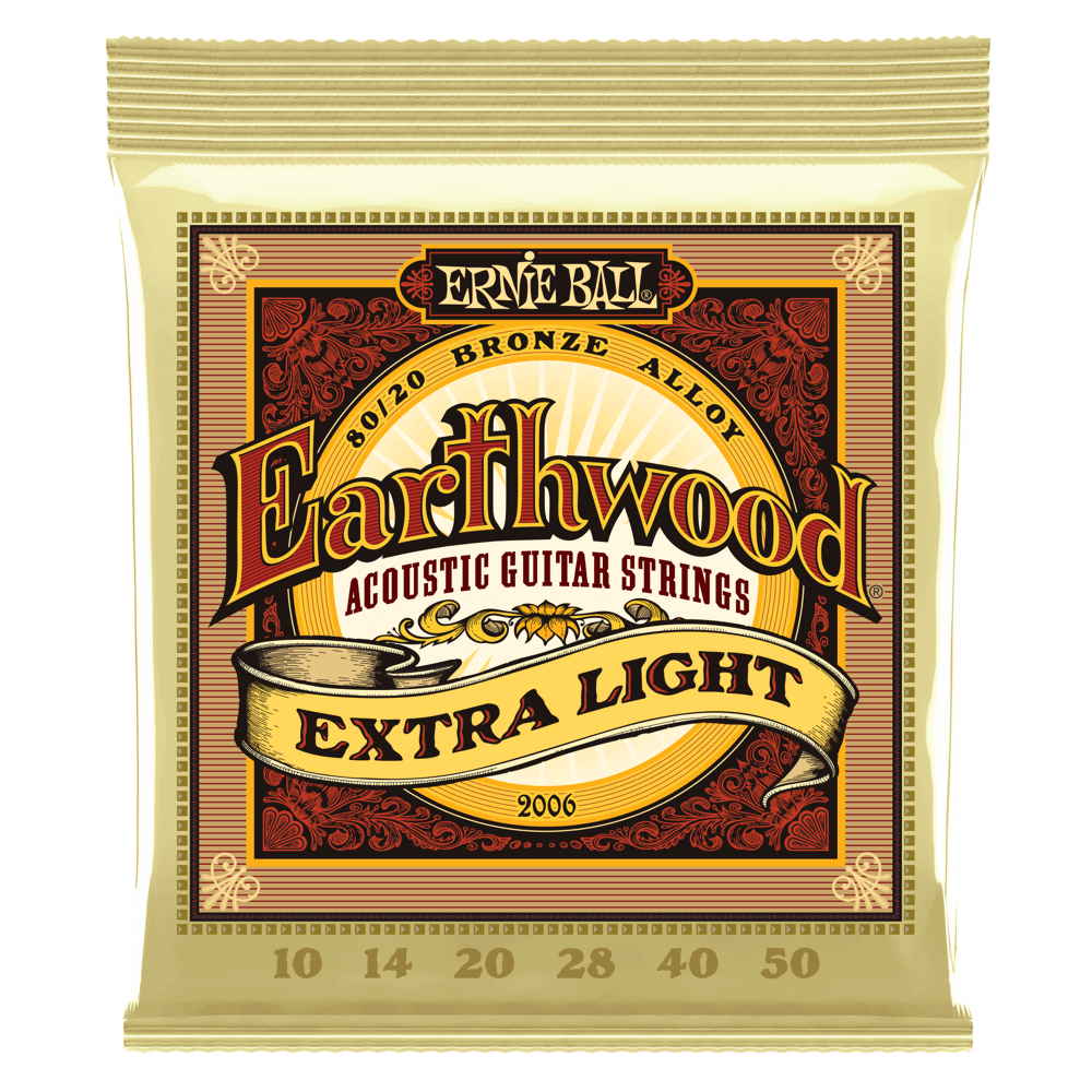 ENCORDOAMENTO ERNIEBALL VIOLÃO .010 EARTHWOOD EXTRA LIGHT