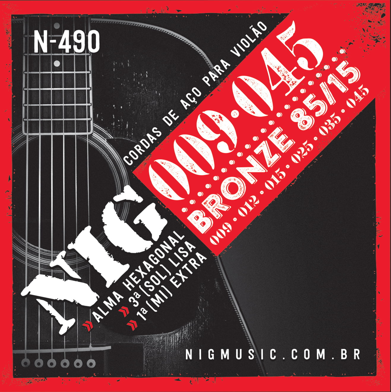 ENCORDOAMENTO NIG N490 VIOLAO AÇO