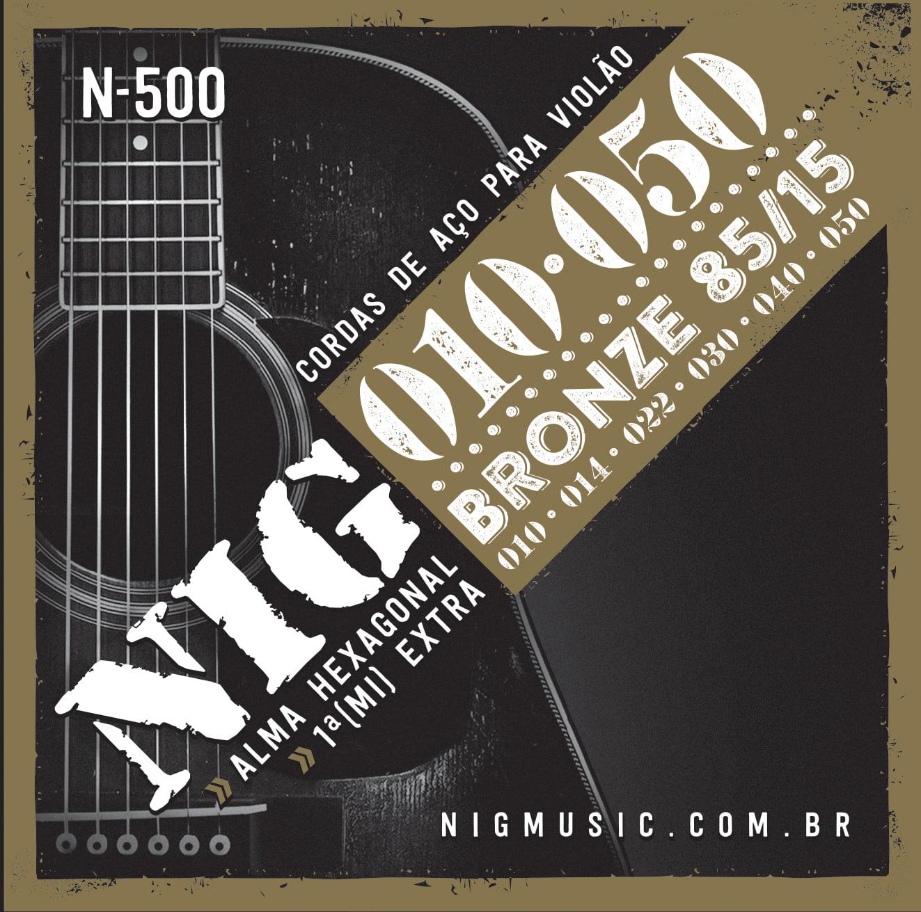 ENCORDOAMENTO NIG N500 VIOLAO AÇO