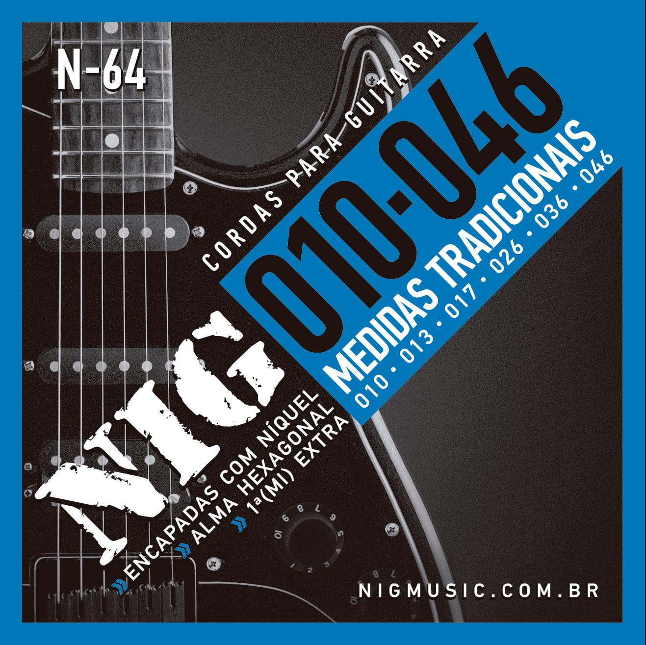 ENCORDOAMENTO NIG N64 GUITARRA .010