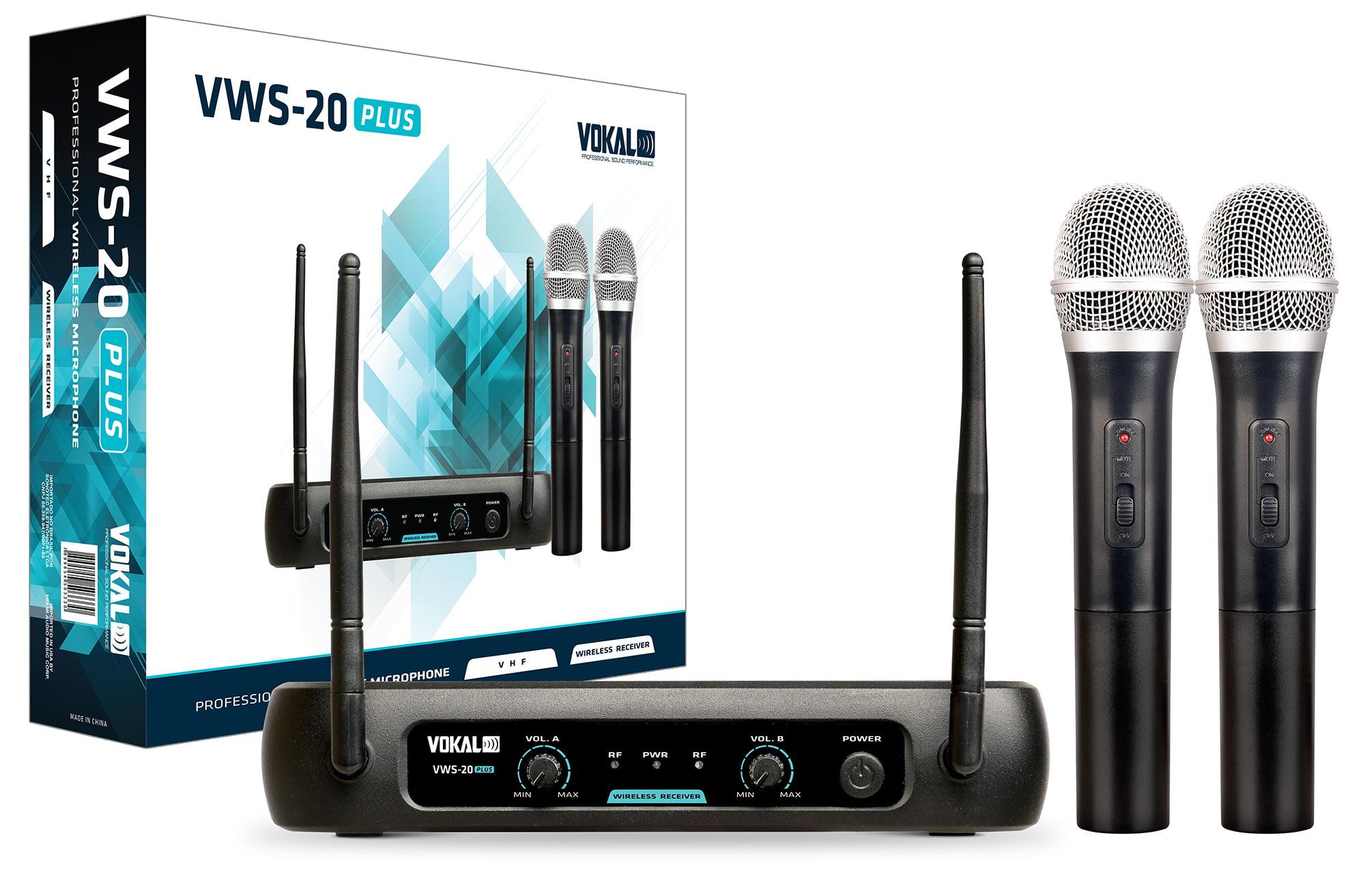Microfone Vokal VWS20 PLUS duplo