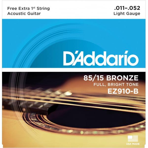 Encordoamento D'addario EZ910 violão aço .011