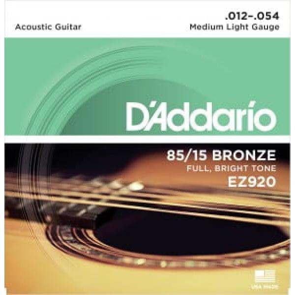 Encordoamento D'addario EZ920 violão aço .012