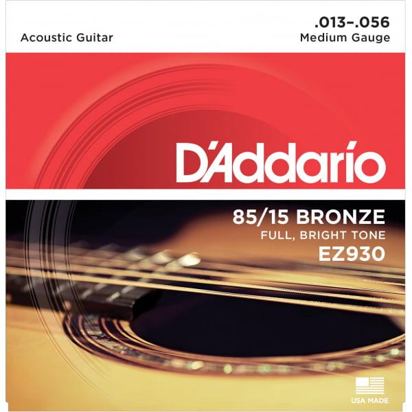 Encordoamento D'addario EZ930 violão aço .013