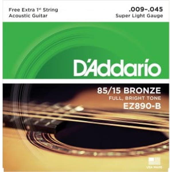Encordoamento D'addario EZ890 violão aço .009