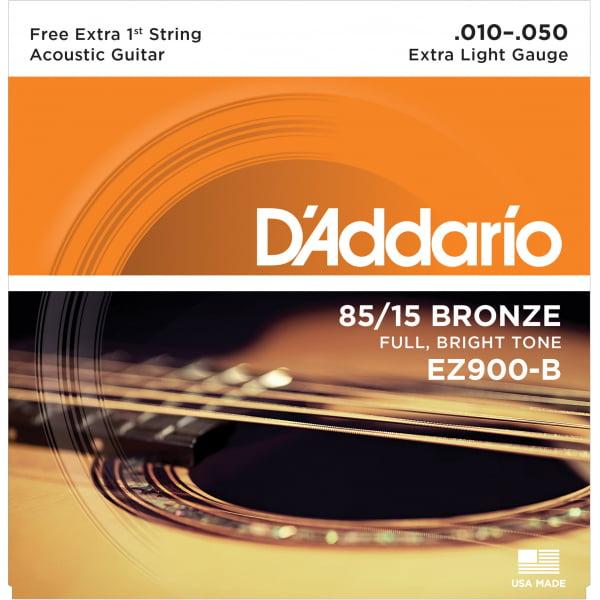 Encordoamento D'addario EZ900 violão aço .010