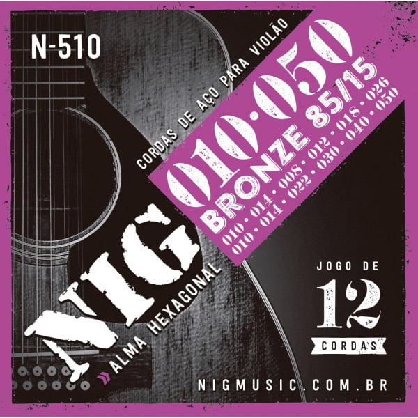 ENCORDOAMENTO NIG510 VIOLAO AÇO