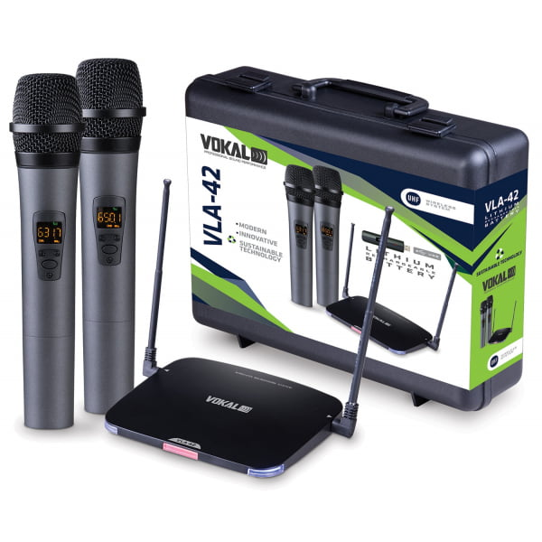 Microfone Vokal VLA-42 sem fio